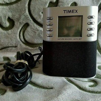 Timex T307S Clock Radio, AM/FM, MP3, dual alarm clock