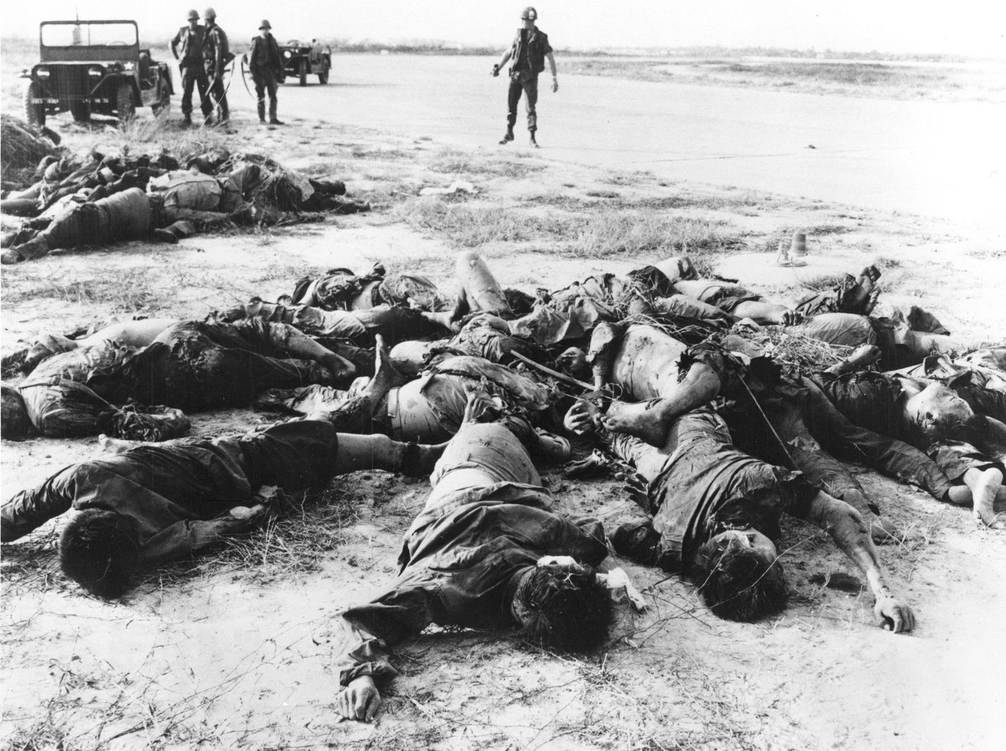the My Lai Massacre was a search and destroy mission that went wrong when the US ended up killing thousands of women and children with no vietcong connections.  Word of this back in the US caused protests against the war.