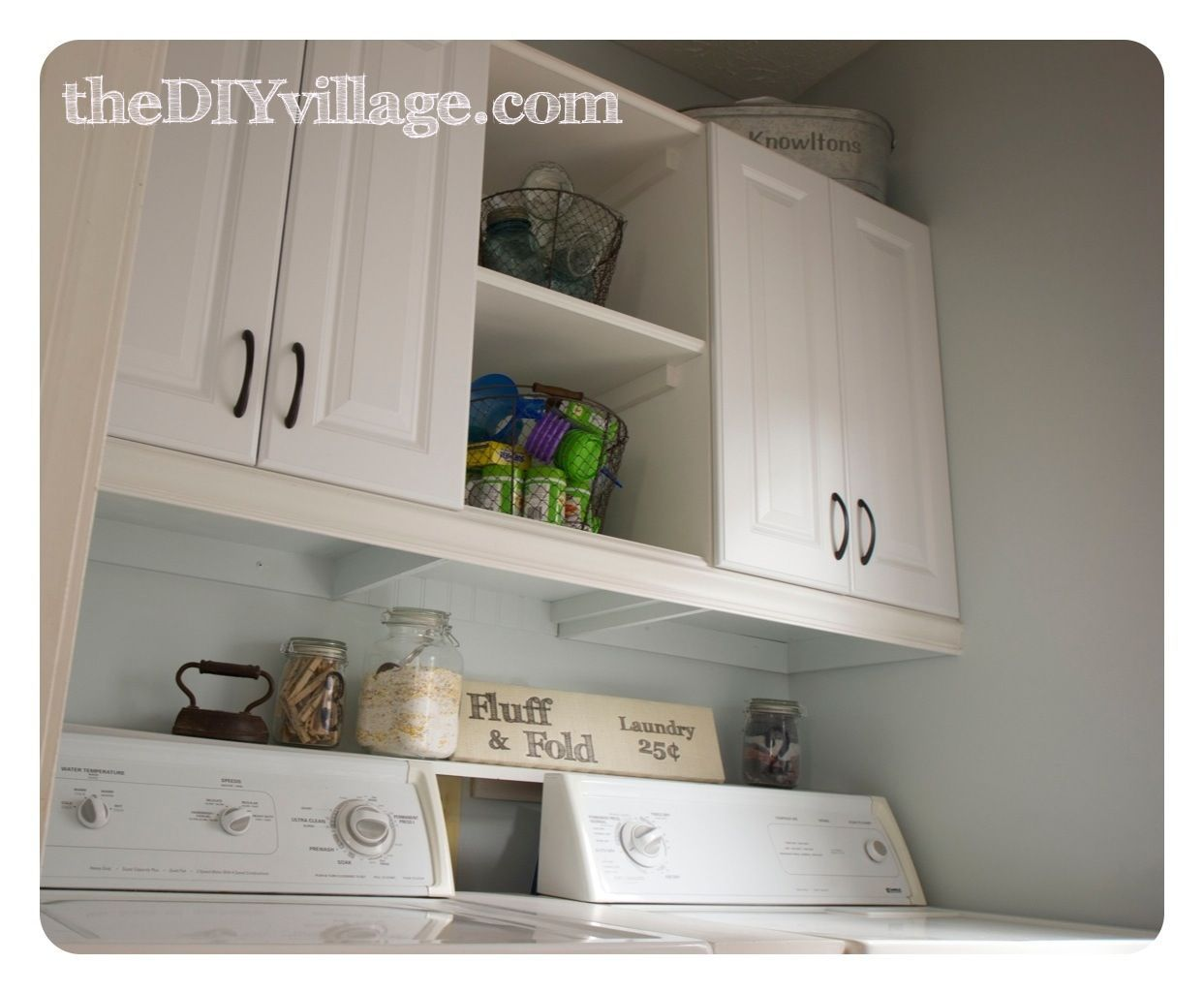 Laundry Room Makeover Using Utility Cabinets From Lowes