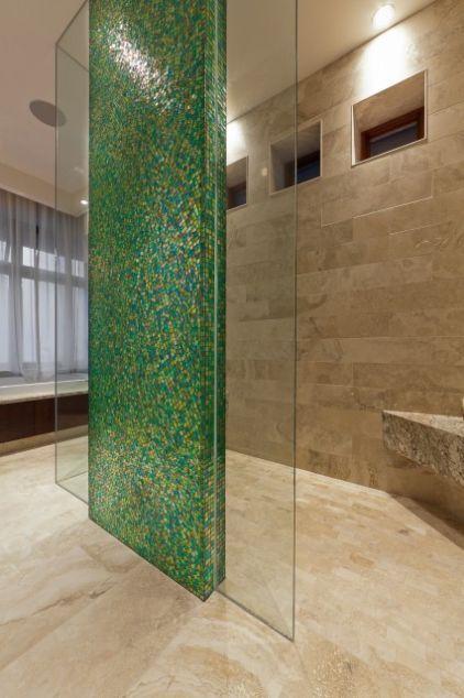 salle de bain mosaique en vert | inspiration + vert | Pinterest ...