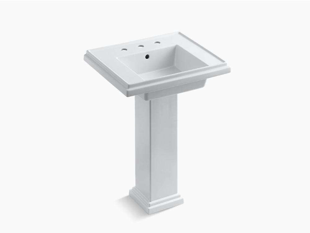 K 2844 8 Tresham 24 Inch Pedestal Sink With 8 Inch Widespread