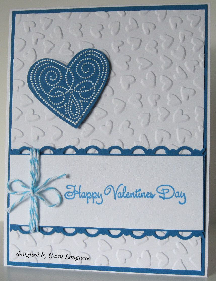 Blue u white valentine card valentine cards pinterest