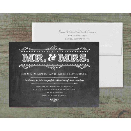 Mr And Mrs Rustic Deluxe Wedding Invitation Walmart Com Wedding Invitation Packages Wedding Invitations Personalised Wedding Invitations