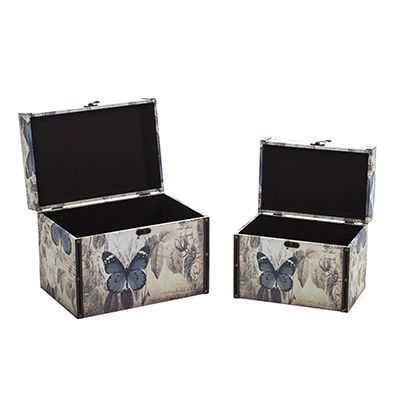 S/2 Butterfly Storage Trunks  sc 1 st  Pinterest & S/2 Butterfly Storage Trunks | bedroom | Pinterest | Storage trunk ...