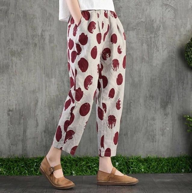 Womens Haren Pants for Summer Spring Cargo Trousers Cotton Loose Style Plus Size 4XL Korean Harem Pants