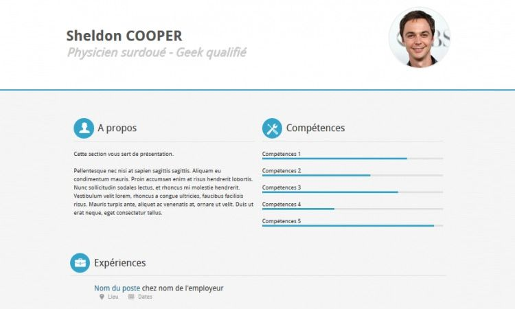 Resume Website Template Free Download One Page Cv Website Best