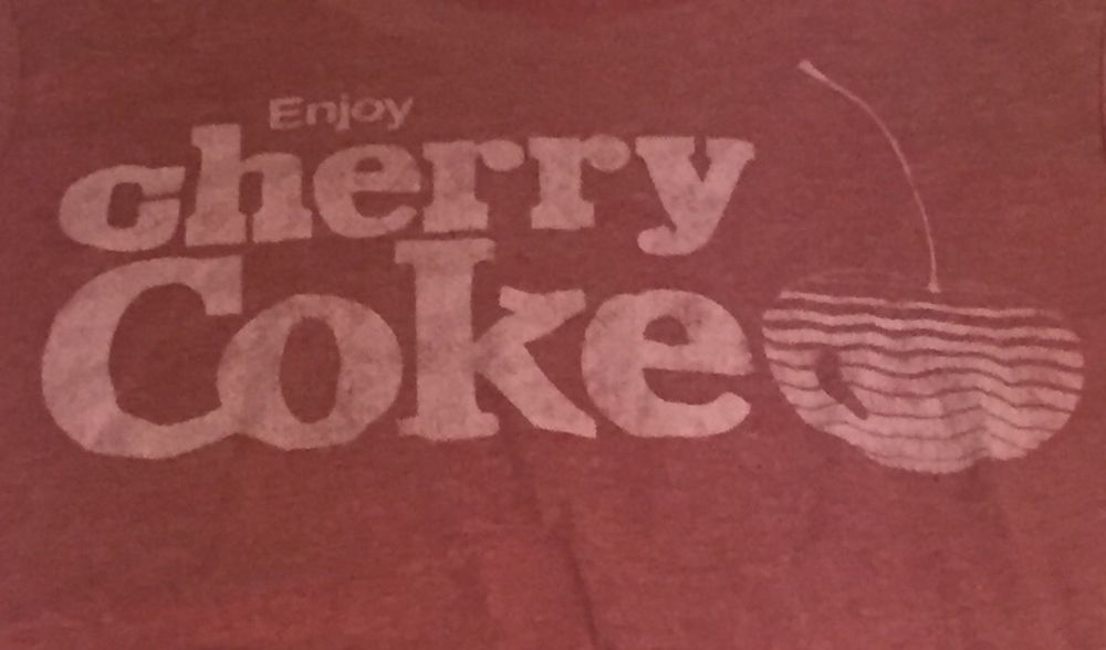 Cherry Coke Coca-Cola Women's Medium Short Sleeve Tee T-Shirt P1 #CocaCola #GraphicTee