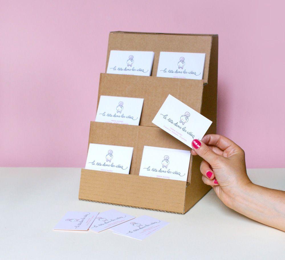 Un Presentoir En Carton Pour Disposer Des Cartes De Visite DIY Porte