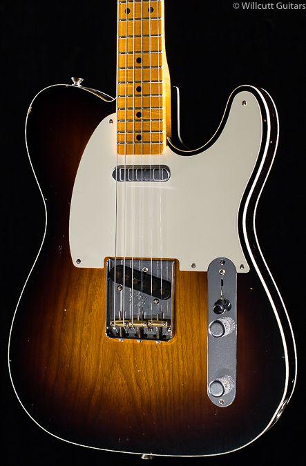 Fender Custom Shop Limited Edition 50s Telecaster Custom Journeyman Relic 2-Tone Sunburst (761) #fenderguitars