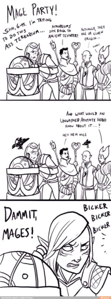 Mage Party Dragon Age Funny Dragon Age Games Dragon Age Series