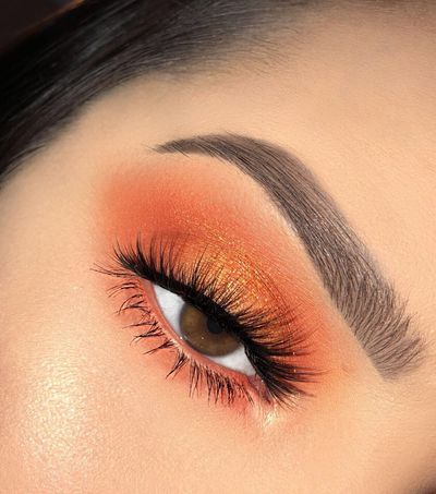orange makeup in 2020  orange makeup orange eye makeup