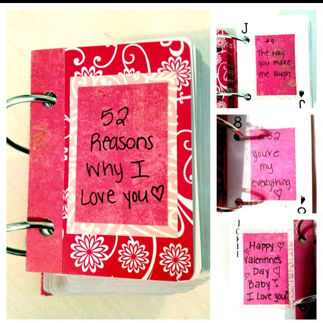 52 Reasons Why I Love You\' deck of cards. Valentines Day present ...