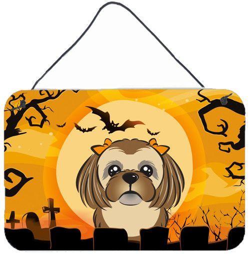 Halloween Chocolate Brown Shih Tzu Painting Print