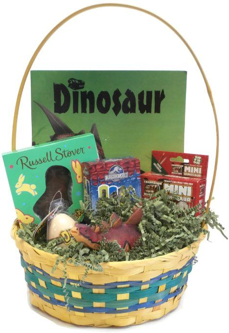 Dinosaur Easter Basket With Hatching Egg Mini Dino Dig Dinosaur Coloring Book And