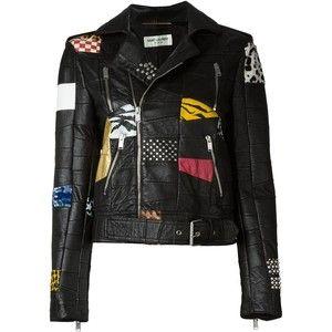 Saint Laurent Patchwork Moto Jacket