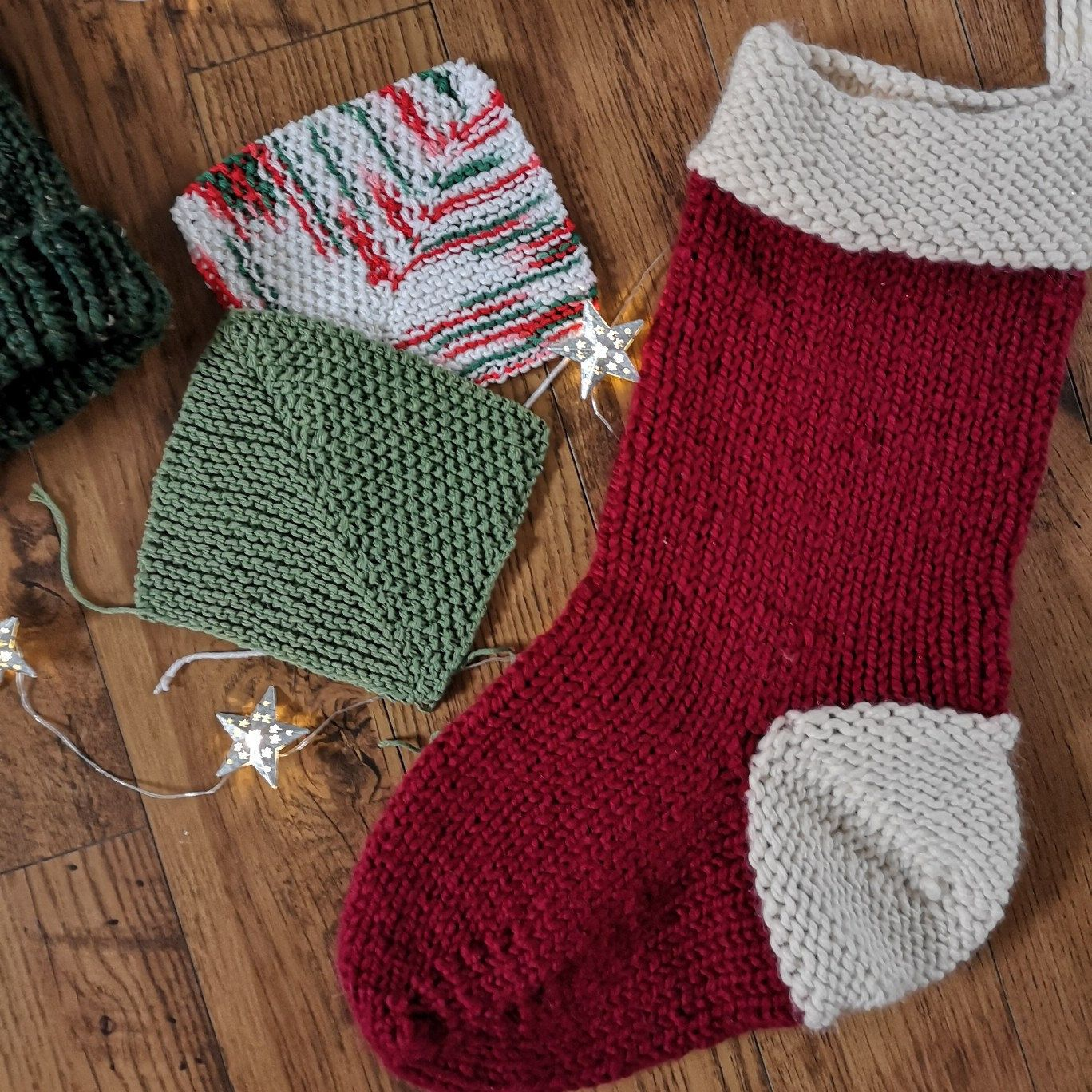 Knitting Pattern | Santa Stocking Pattern | Knit Christmas ...