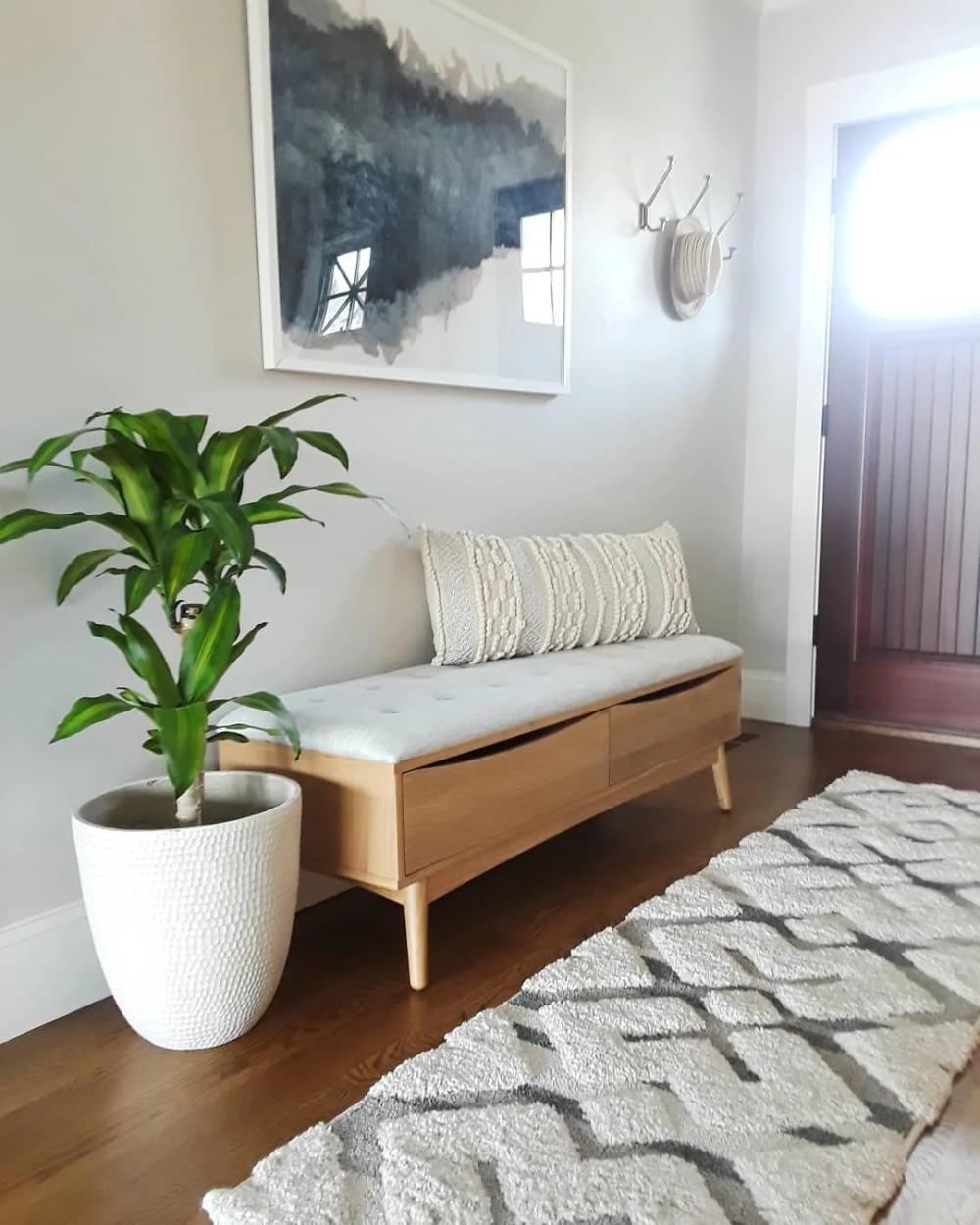 Culla Oak Bench Bedroom Bench Modern Living Room Bench Comfy Bench #small #living #room #bench