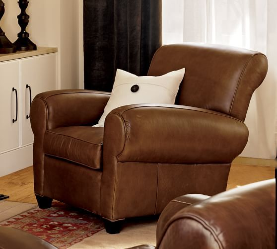 Superbe Manhattan Leather Recliner | Pottery Barn