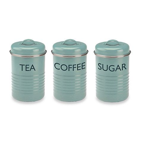 Buy Typhoon Summer House 3 Piece Canister Set In Blue From Bed Bath