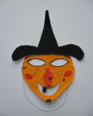 Bastelsachen Basteln Hexenmaske Pappteller Fasching