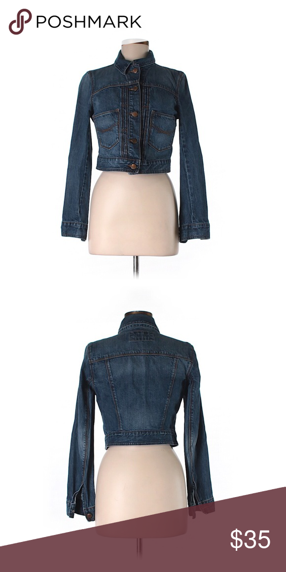 GAP  Cropped Denim Jacket Blue Size Small GAP Denim Jacket Blue Size Small. Excellent condition. 100% Cotton. GAP Jackets & Coats Jean Jackets