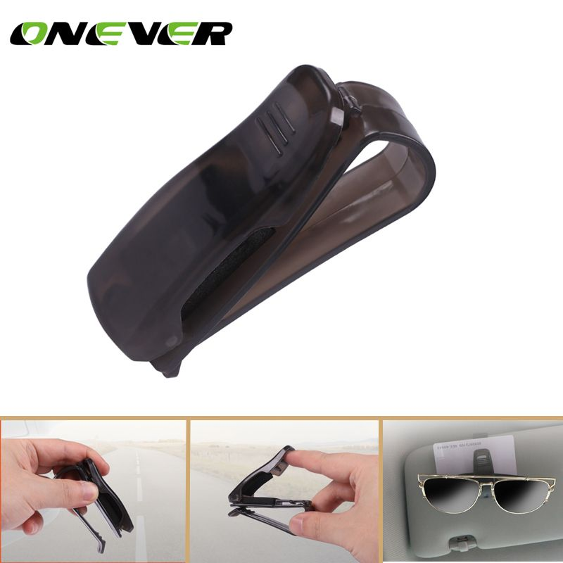 Car Auto Visor Organizer ONEVER Car Sun Visor Holder Car Storage Sunglasses Clip Holder Black