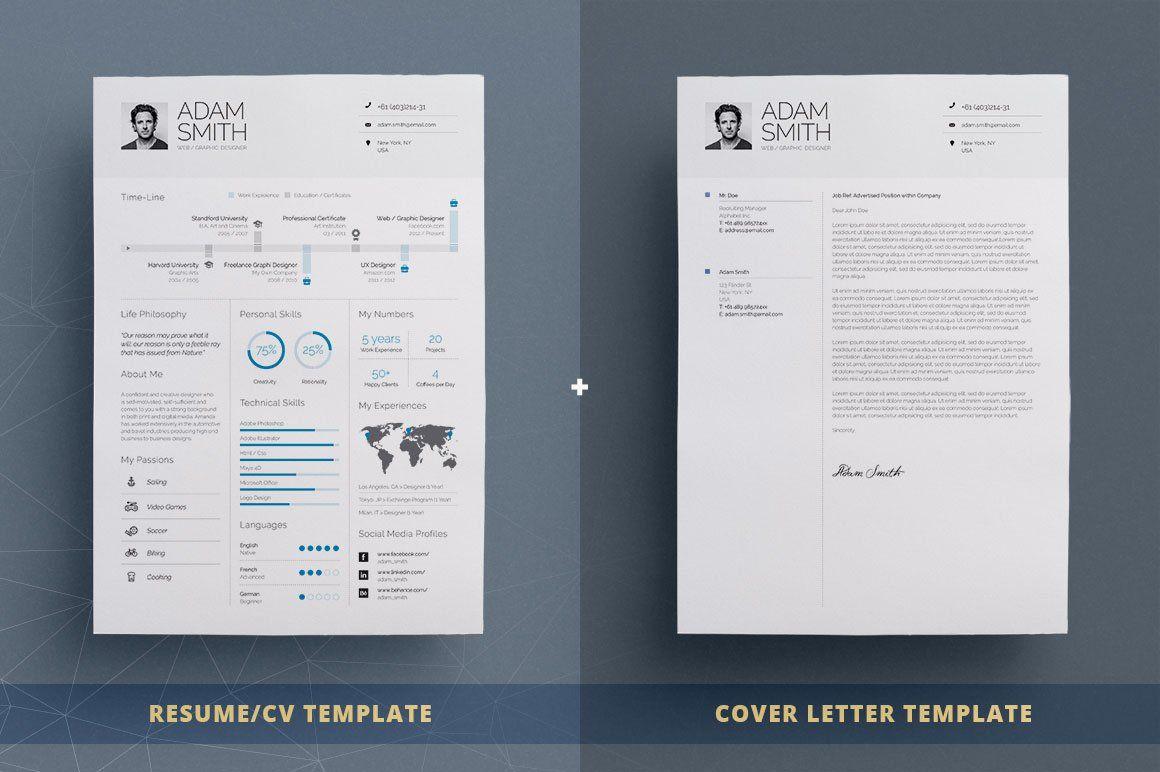 Infographic Resume Cv Template Vol 8 Cv Gratuit Template Cv Design Creatif