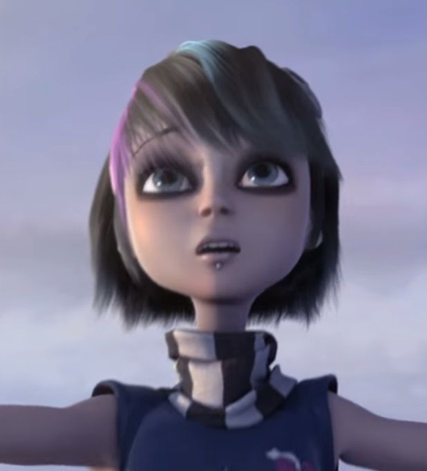 Anna Blue - flying dream - I'm not into Goth and don't like piercings, but those things are external and temporary. I see something beyond those in this CGI girl.