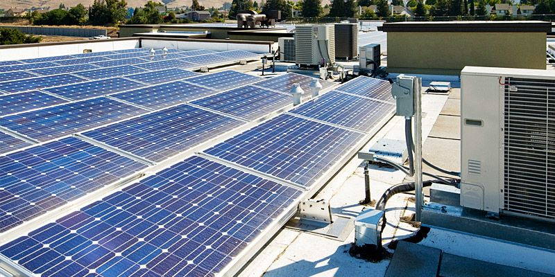 The Advantages Of A Flat Roof System Solar Panels For Home Used Solar Panels Flat Roof
