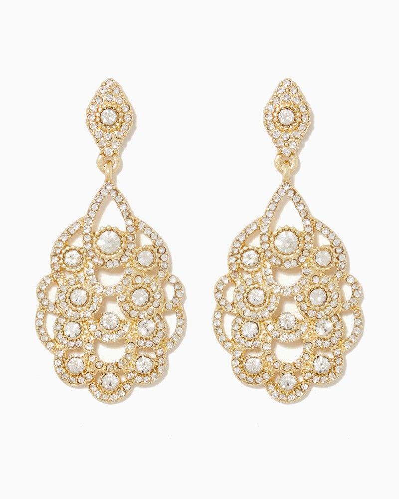charming charlie Sparkling Affair Chandelier Earrings UPC