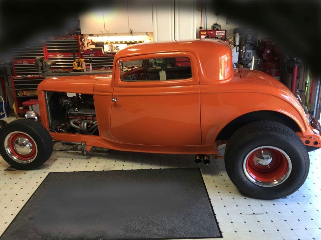 traditional hot rods | Orange classic 1932 Ford 3 Window Coupe hot ...