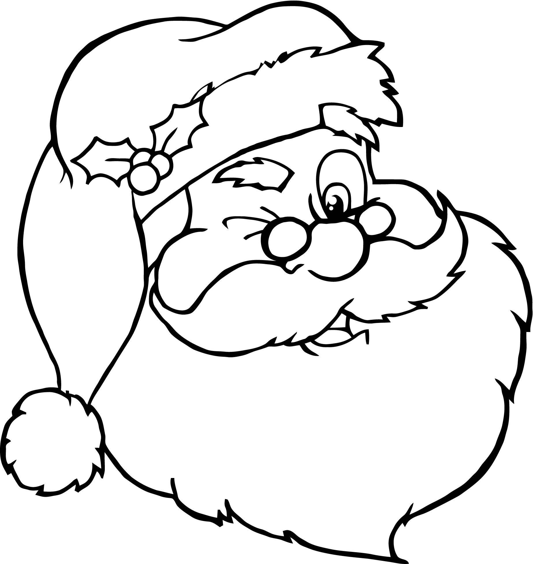 Papa Noel para Colorear e Imprimir para tus Trabajos | Dibujos