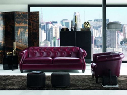 luxury natuzzi leather sofa purple | Sofa bed | Sectionals ...