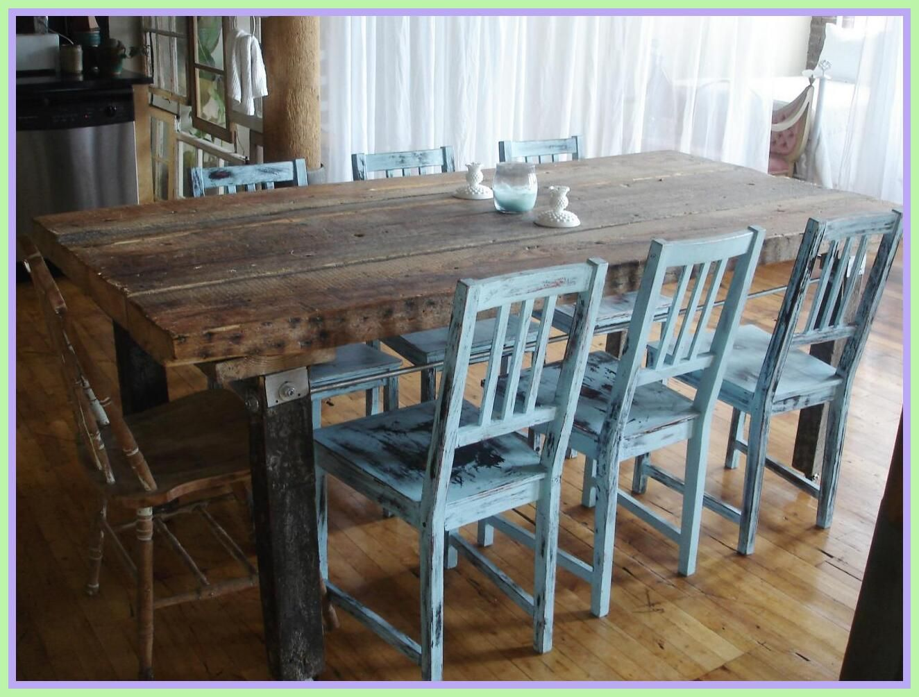 123 Reference Of Blue Dining Chair Wood Rustic Dining Room Table Farmhouse Kitchen Table Sets Distressed Kitchen Tables