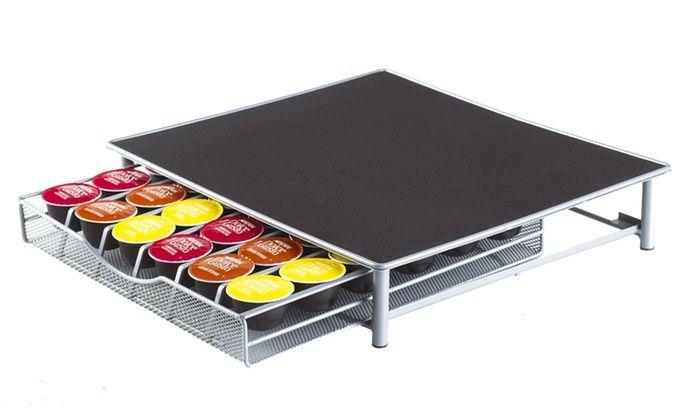 Support de machine à café et Range capsules 1 tiroir compatible avec Dolce Gusto & Nespresso ...