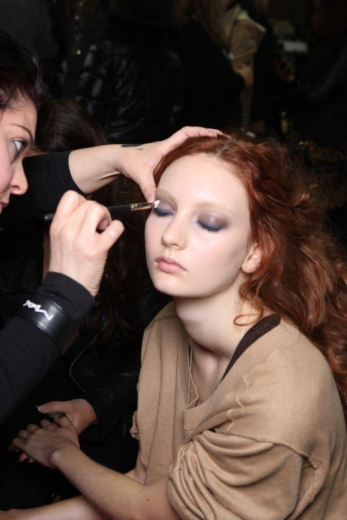 Backstage at Paul Smith Fall 2012