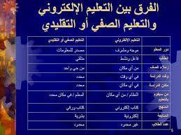 الفرق بين التعليم الالكتروني والتعليم الصفي او التقليدي Education Professional Resume Arabic Resources