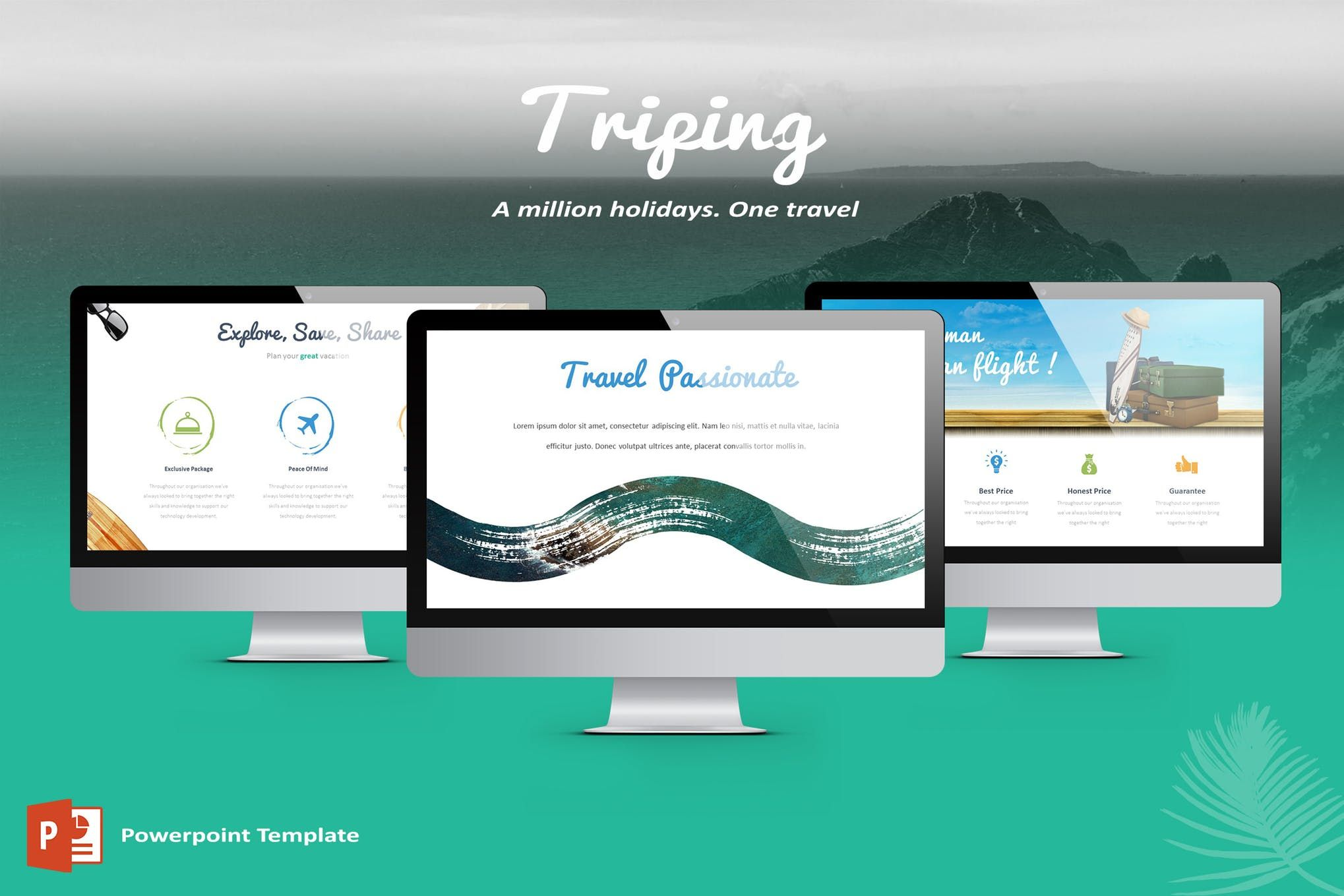 Triping Travel Powerpoint Template Safety Pinterest
