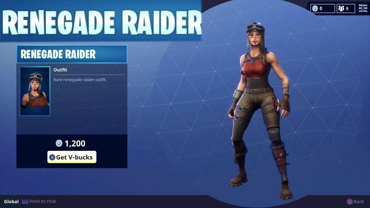Rare Renegade Raider Character Outfit Skin Season Item In Fortnite