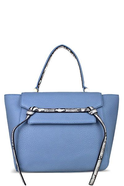 6879b6d4b1b4 Snake Skin Trim Fashion Purse Blue