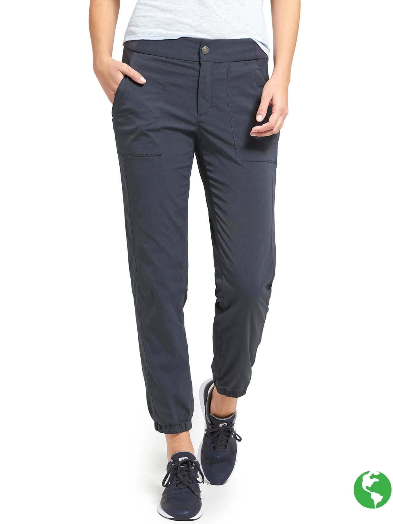 e5661627584f8 I'd like to try pants like this. Athleta Trekkie Jogger 2.0, flint grey