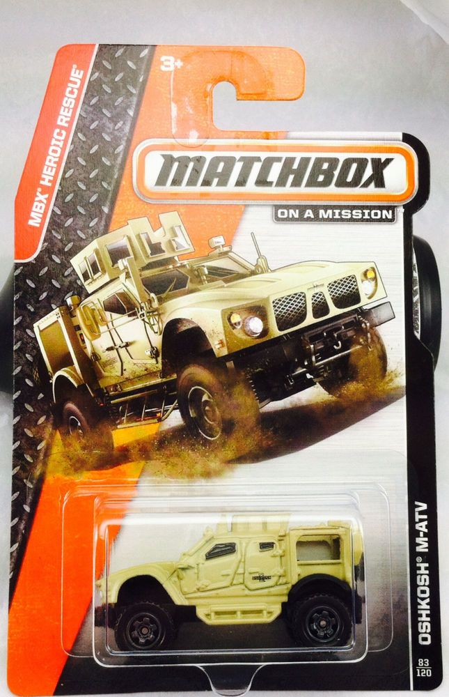 Hot Matchbox Mainline Oshkosh M Atv Diecast Wheels