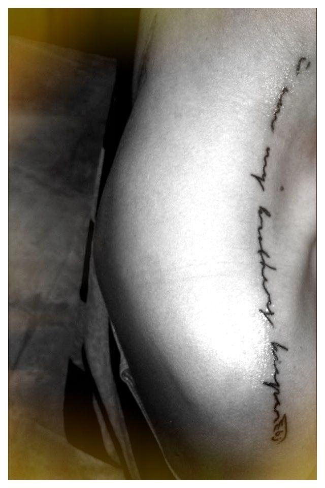 Beautiful Shoulder Tat I Am My Brothers Keeper Tattoos