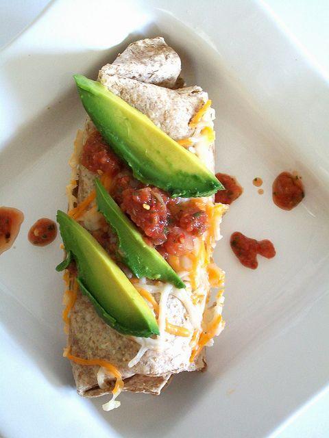 Wow- this looks delicious! vegan quinoa burritos