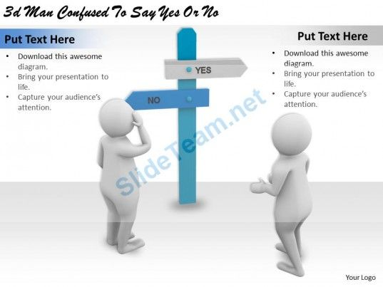 3d man confused to say yes or no ppt graphics icons powerpoint #powerpoint  #templates #infographics