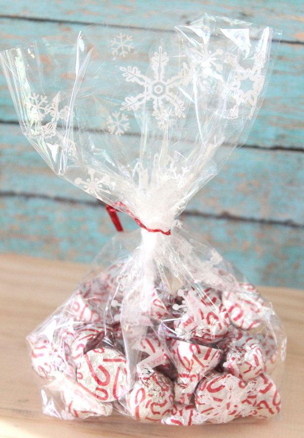 Snowflake Cellophane Bag Set Of 12 Snowflake Christmas