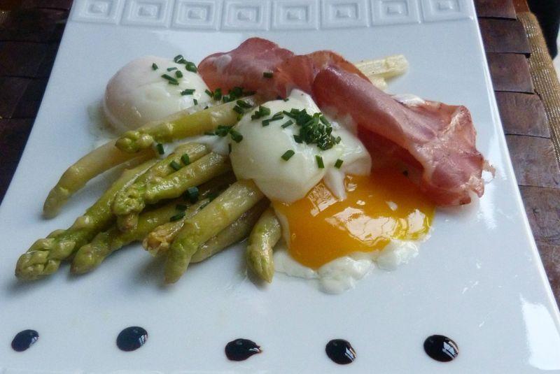 Oeufs basse temp rature asperges blanches et coppa bonheurs en bouche cuisine oeuf basse - Plat cuisine sous vide ...