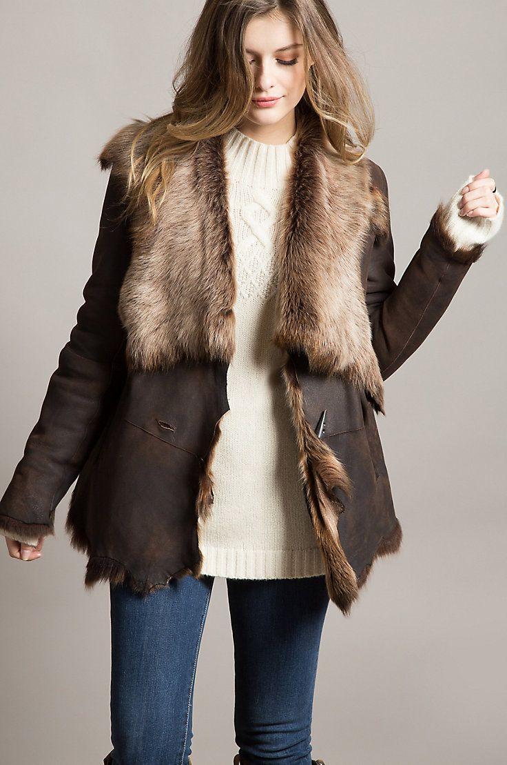 0d2cbcdb5 Montana Raw Edge Toscana Sheepskin Coat in 2019   Sheepskin Coats ...