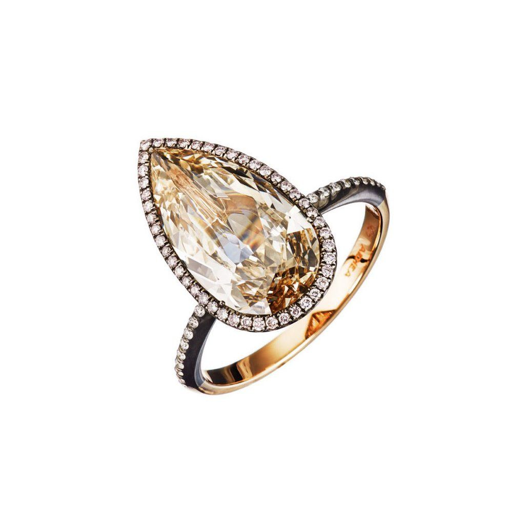 Pinkbrown Diamond Ring