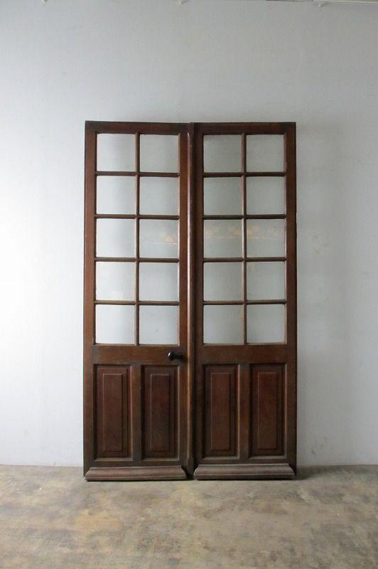 両開きガラスドア Boncote アンティークドア アンティーク窓